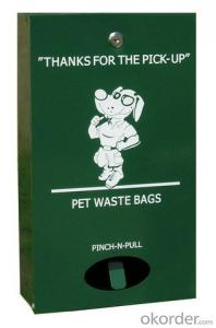 Metal Commericial Dog  Waste  Bag Dispenser Power Coated Green Color
