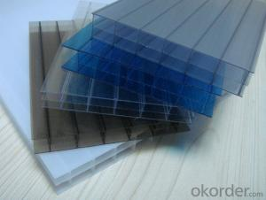 High Quality 100% Virgin Material Colored Triple-wall Polycarbonate Hollow Sheet