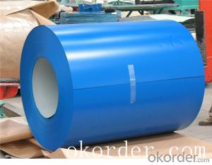 Prime quality prepainted galvanized steel 610mm