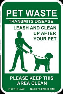 Aluminum Sign for Dog Waste Station Clean Up after Your Pet