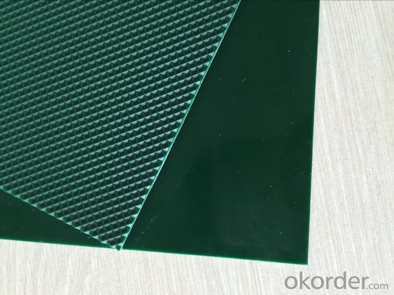PVC Conveyor Belt Green Diamond 3.0mm For Light Industry