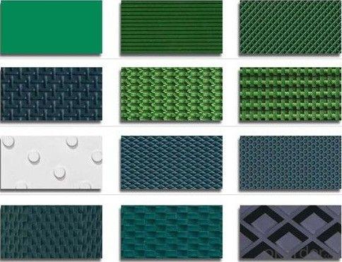 PVC/PU Conveyor Belt Round Dot Rough Top Surface