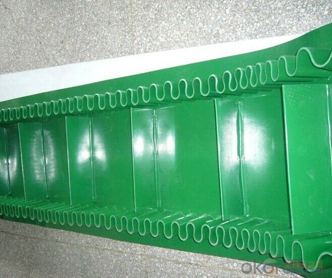 PVC Conveyor Belt with Skirt Sdewall,Cleat,PVC Rope