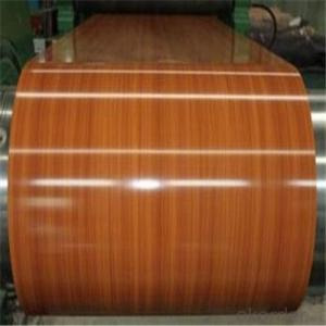 Wood Pattern Printed Galvanized PPGL Steel Coil