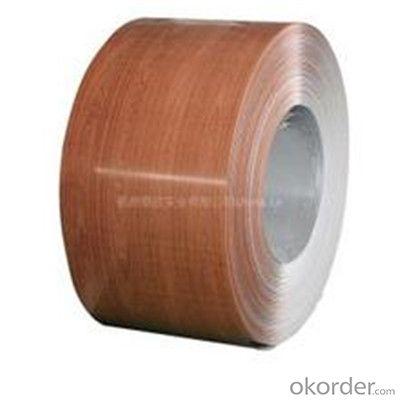 Wood Grain Coated Galvanized PPGI Steel Plates