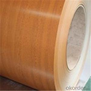 Wooden Pattern Printed Prepainted PPGL Steel Coils