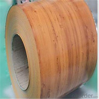 Wooden Pattern Coated Galvanized PPGI Steel Sheet