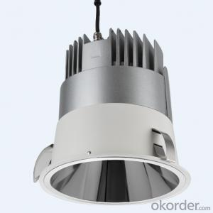 Recessed LED high power down light with 9000lm output suitable for airport