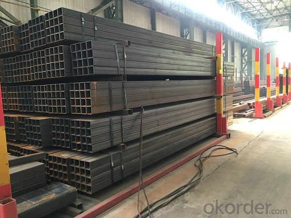 Welding square tube with hot construction