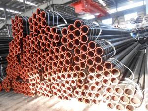 Seamless steel pipe for natural gas pipeline