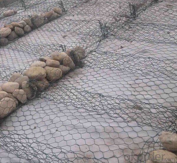 Welded and Galvanized, PVC Coated Wire Mesh Gabion Box
