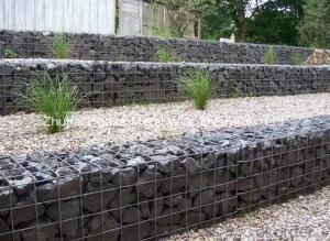 Galvanized and PVC Coated Hexagonal Wire Mesh Gabion Basket