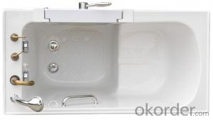 Acrylic dual massage outward swing door walk in tub-K112
