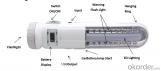 Multi-function Flashlight, LED Torch, LED lighting light, Warning light, Car battery jump start