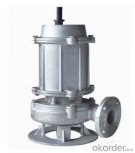 Stainless Steel Submersible Sewage Cutter Pump Sewage Pump