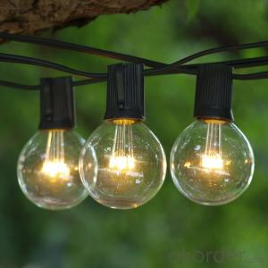 G50 Incandescent Bulb Patio Light String ,E12,25Bulbs with UL Listed for Decoration