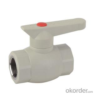 F3 type PPR single female threaded ball valve with brass ball