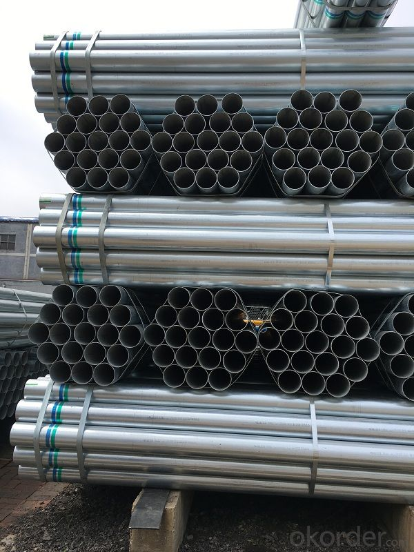Hot dip galvanized welded steel tube for selling
