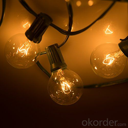 G40 Incandescent Globe Bulb Patio Light String Fancy String Light for Outdoor Decoration