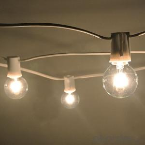 G40 Incandescent Globe Bulb Patio Light String Vintage String Light for Holiday Decoration