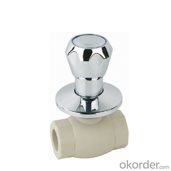 F7 type PPR single female threaded luxurious ball valve with brass ball