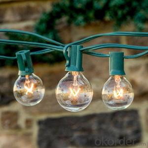 G40 Incandescent Globe Bulb Patio Light String Fancy String Light for Holiday Decoration