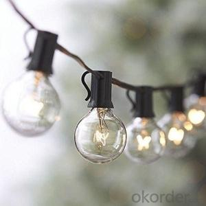 UL/CE Listed G40 Incandescent Globe Bulb Patio Light String Fancy String Light for Decoration
