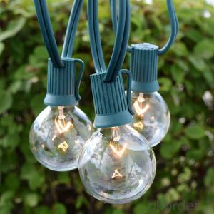G50 Incandescent Bulb Patio Light String ,E12,25 Feet,25Bulbs