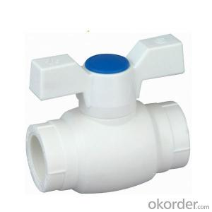 A5 Type PP-R ball valve with brass  ball