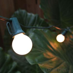 G50 Incandescent Bulb Patio Light String ,E12,25Bulbs with UL/CE/ROHS Listed for Decoration
