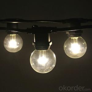 G40 Incandescent Globe Bulb Patio Light String Fancy Light for Decoration