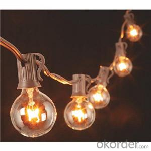 G40 Incandescent Globe Bulb Patio Light String Fancy String light with UL Listedfor Decoration