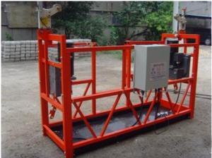 ZLP500 Exterior Wall / Window Cleaning Platform Cradle Scaffolding 4M 500KG 1.5KW