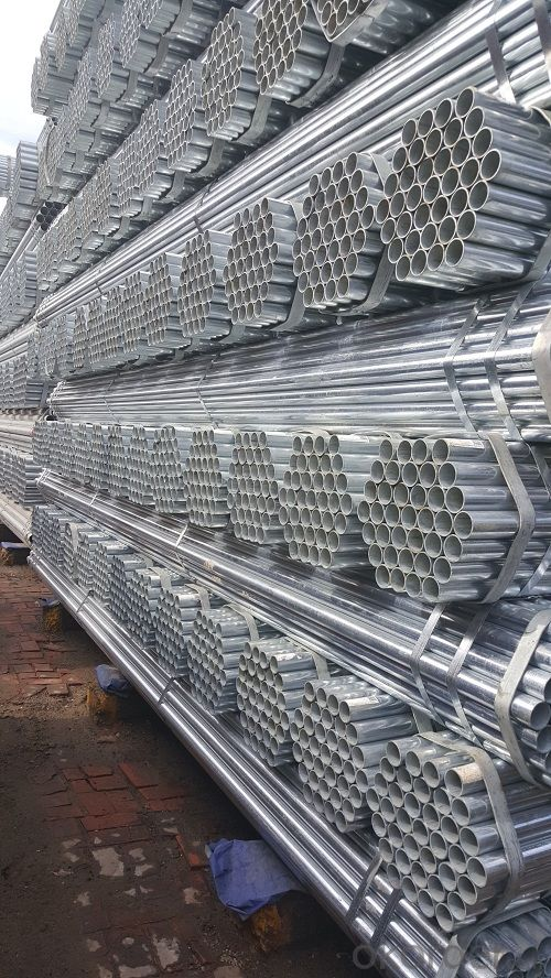 Galvanized welded steel pipe for decoration