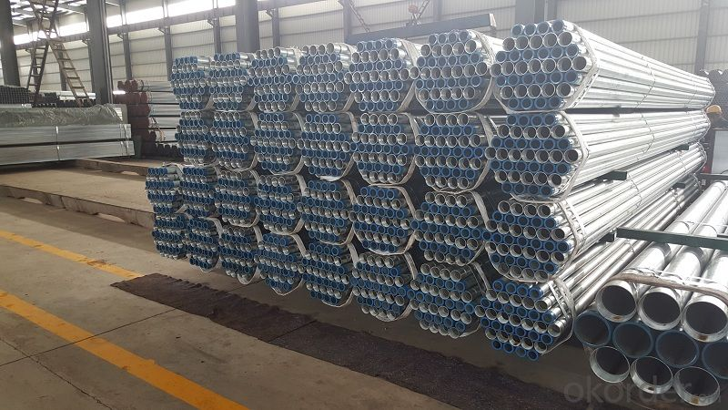 Galvanized steel tubes for various medium and low pressure fluids