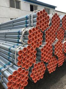 Galvanized welded steel tubes with different zinc content