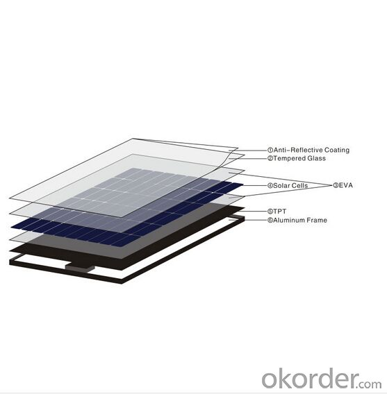 CNBM Solar Monocrystalline  156  Series 45W
