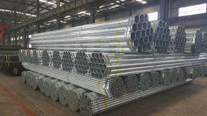 Galvanized welded steel pipe for low pressure fluid