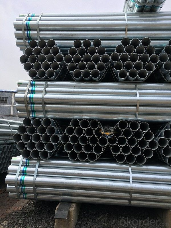 Galvanized welded steel pipe for heating water pipe