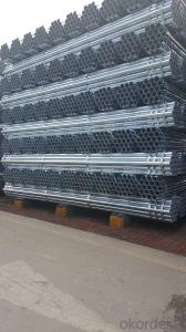 Galvanized welded steel pipe for mechanical structure