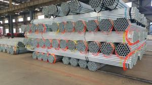 Galvanized welded steel pipe for engineering materials
