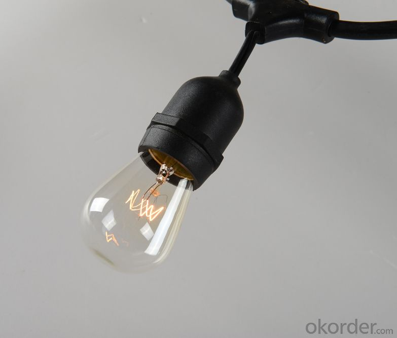 S14 E26 Incandescent bulb string lights commercial lighting outdoor patio lights