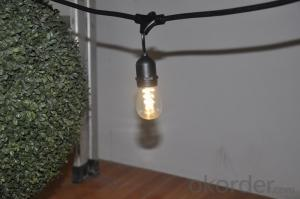 S14 incandescent bulb light string decorative light waterproof hanging socket outdoor light