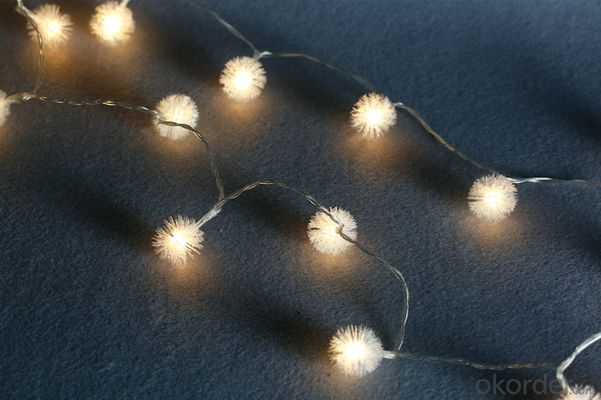 Ball-flower 3AA battery operated mini LED light string  110v mini bulb light led candle light