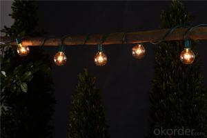 G50 Incandescent bulb patio light string decorative light waterproof hanging socket outdoor light