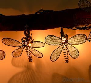Dragonfly light string decorative light waterproof hanging socket outdoor light