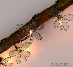 Dragonfly light string decorative light waterproof hanging socket outdoor light