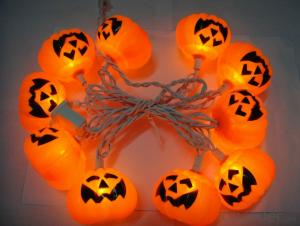 Pumpkin light string decorative light waterproof hanging socket outdoor light