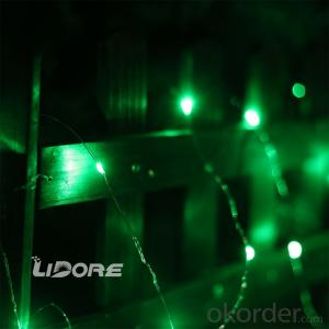 2AA Battery operated LED string light decorative light waterproof hanging socket outdoor light