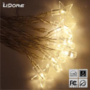 Star 3AA battery operated mini LED light string  waterproof hanging socket outdoor light